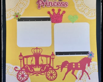 Premade Scrapbook Page, 12x12 Scrapbook Page, Scrapbook Layouts, Scrapbooking Ideas, Baby Girl Premade PagePremade pages