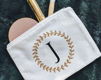 Personalized Cosmetic Bag - Large Cosmetic Bag - Makeup Bag - Bridesmaid Gift - Make Up Bag - Personalized Bag - Makeup Case - Wedding Gift
