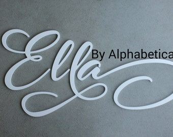 Nursery Letters Girl Wooden Letters for Nursery Wall Letters Wooden Name Sign Wall Decor Baby Name Letters Wall Hanging Ella Alphabeticals