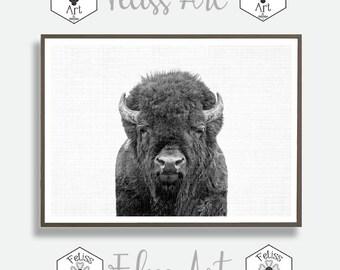 Buffalo Wall Print, Bison Poster, Buffalo Wall Art Buffalo Poster, Wilderness Print, Wilderness Wall Decor, Printable Animal Art, Indigenous