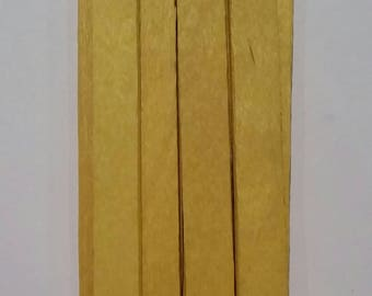 Popsicle Sticks, 24 Dyed Popsicle Sticks, 24 Yellow Popsicle Sticks, 24 Dyed Yellow Popsicle Sticks, Dyed Popsicle Sticks, Yellow