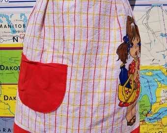 Too Kitsch To Be True Cotton Terry Cloth 70s Vintage Apron Cosplay Kawaii Retro Cute Made In Brazil Shipping Included