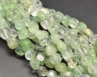 5 x 8-12mm Green Quartz Nuggets beads