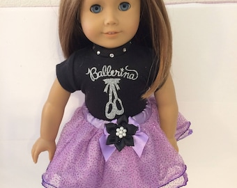 """Ballerina#9 doll clothes for the 18"""" doll like the American girl"""