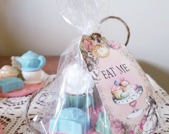 Tea And Cake Soap - Alice In Wonderland Bath - Tea Soap - Lemon Soap - Cake Soap - Soap Decor - Soap Gift - Party Favor - Alice Party - Tea