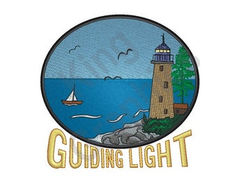 Lighthouse - Machine Embroidery Design, Guiding Light