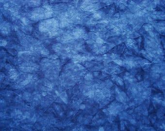 30 count Cross Stitch Linen Fabric, Hand Dyed Evenweave Linen, Navy Blue Organic Hemp Fabric, 27X18