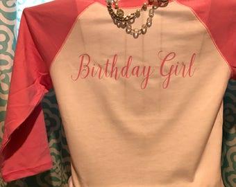 Birthday Girl  size small