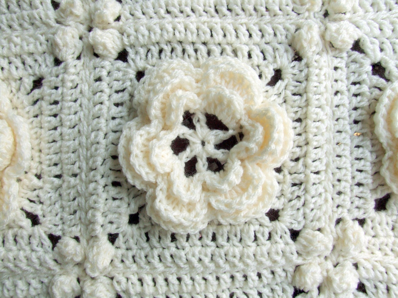 Crochet Pattern - Rosanna - Granny Square / Afghan Block - Irish ...