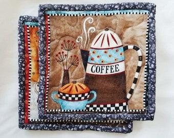 Brown Coffee Pot Holders