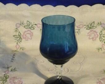Blue Brandy Glass