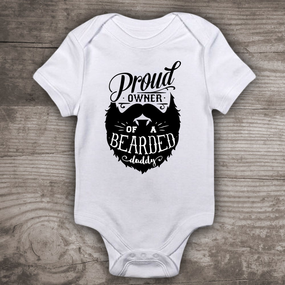Fathers day beard shirt for kids boys girls new baby zoom negle Gallery