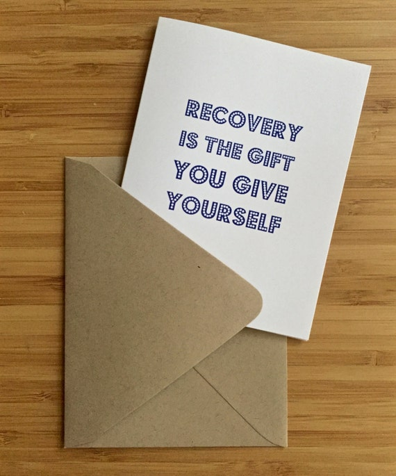 Supportive sobriety card recovery card sober birthday card bookmarktalkfo Choice Image