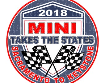 "Grill Badge- MTTS 2018 Sacramento to Keystone BLUE  3"" magnetic grill badge"