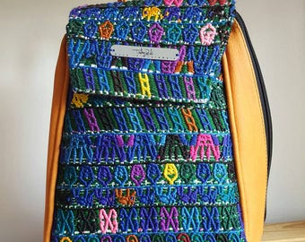 Backpack made with Guatemalan fabric