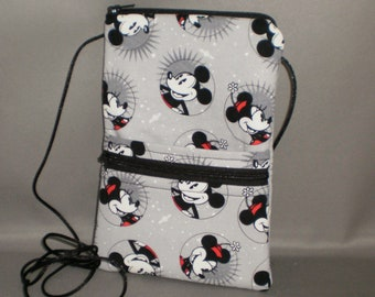 Mickey Mouse Minnie Mouse Smart Phone Purse - Passport Purse - Sling Bag - Hipster - Wallet on a String