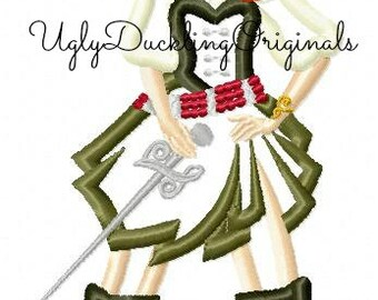 Pirate Fairy Applique Design Zarina Machine Embroidery Digital Download