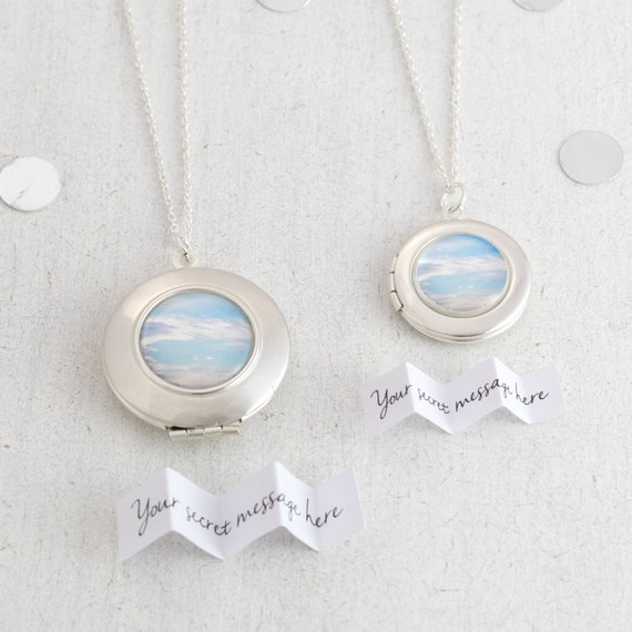 Cloud Locket Necklace