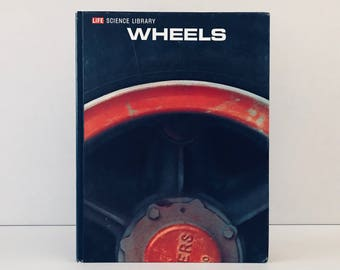 """Vintage Time Life Magazine """"Wheels"""" Encyclopedia, 1960s Railroad History, Automobile Transportation Book, Father's Day Gift"""