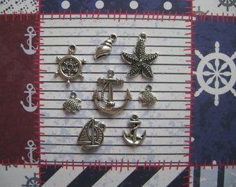 The sea theme charms