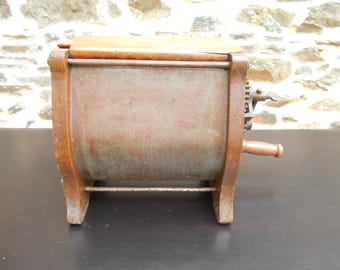 Antique French wooden Butter Churn - Tabletop Butter Churn..