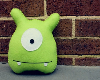 Jack -  Green Felt Monster Soft Toy