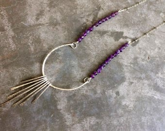 Sterling Silver and Amethyst Egyptian Style necklace