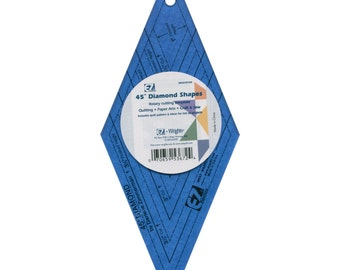 Template - 45 Degree Diamond Ruler by EZ Quilting / Simplicity Rotary Cutting Tool