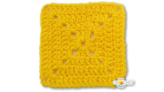 Solid Double Crochet Granny Square Pattern PDF Easy Beginner