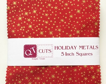 Holiday Metals  5 inch stacker 42 Pcs by Quilted Treasures