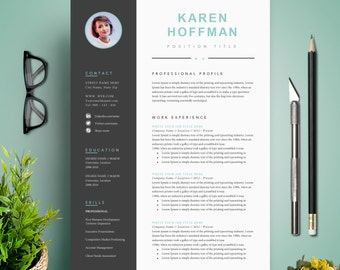Amazing Resume Template / CV Template + Cover Letter | Instant Digital Download | Teacher  Resume | Professional And Creative Resume L With Photo