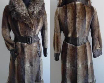 HAUTE!!!CHIC!!! FITTED Belted Nuskrat - Raccoon Size 4
