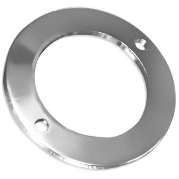 6 Tiny Thin Washer Blanks - Outer Diameter 16mm (.63 Inch) Inner Diameter 10mm (7/16 Inch) - 2 - 1mm Holes - 316L SURGICAL STEEL