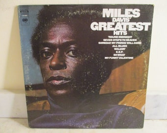 Vintage 1969 Vinyl LP Record Miles Davis Greatest Hits Jazz LP Very Good Condition 16153