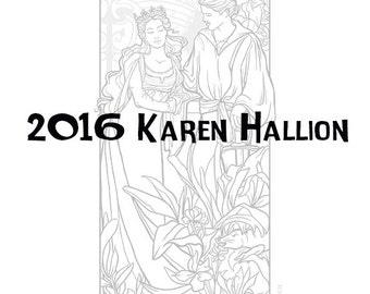 Bride Coloring Page - Digital Download