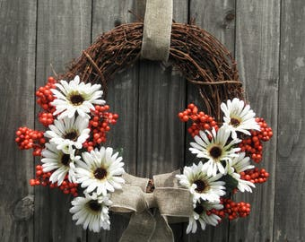 Rustic Fall Light-Up Wreath