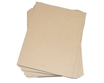 """15 Chipboard Pads, 8-1/2"""" x 11"""" Kraft paper pad rigid for DIY, strengthen envelopes and more15"""