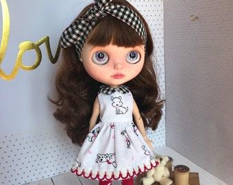 blythe, blythe doll, blythe dress, blythe clothes, blythe custom, blythe doll clothes, blythe hat, blythe handamade