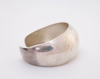 Thick sterling silver cuff bracelet / cuff / bracelet / Vintage silver cuff  / adjustable cuff / sterling silver cuff bracelet / 347