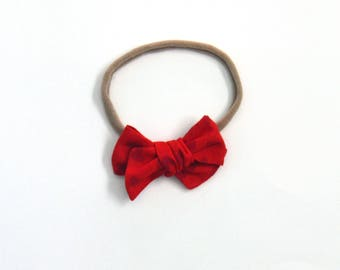 Red Heart Mini Knotted Bow