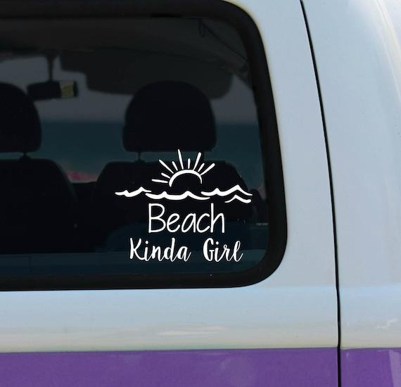 Beach kinda girl - Vinyl Decal - Car Decal - Laptop Sticker - Window Decal - Bumper Sticker - Beach Decal - Surfing Decal -Sun Decal
