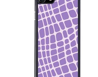 iPhone 5 5s 6 6s 6+ 6s+ SE 7 7+ iPod 5 6 Phone Case, Purple Croc Design, Crocodile, Animal, Plus