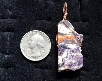 Tiffany Stone Copper Pendant
