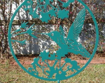 Hummingbird Yard Art-2