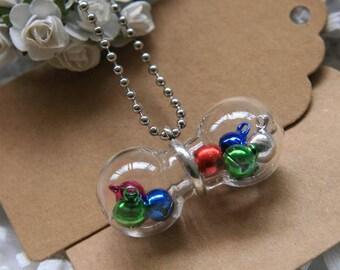 Set of 2 vials bottle globe ideal for Necklace (DVNP24832) bottles