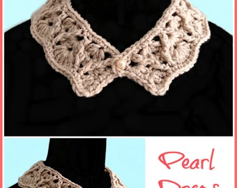 Pearl Drops Collar pdf crochet pattern