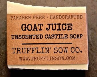 Goat Juice Soap Bar | Natural Goat Milk Soap | Unscented Soap | All Natural Soap | Shaving Soap | Shaving Gift Idea | Sensitive Skin Soap