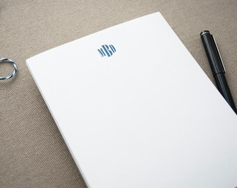 Personalized Notepad with Modern Monogram / Small Notepad with Monogram / Personal Notepad / Custom Notepad