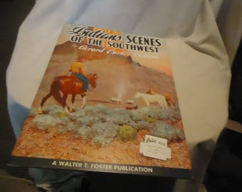 Vintage 1960's Indians & Scenes Of The Southwest by Gerald Curtis Delano How To Draw Book or Magazine 120 by Walter T. Foster, collectable