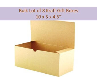 8 Boho Favor Boxes - Kraft Favor Boxes, Champagne Flute Box Beer Glass Favor Box For Wine Glass Favor Box Bulk Lot 8 Kraft Boxes Flute Boxes